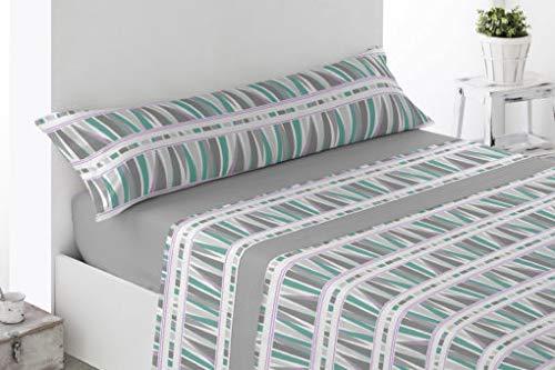 Energy Colors Textil-Hogar - Térmicas 8666 - Juego SÁBANAS Completo Polar 3 Piezas Pirineo Otoño-Invierno Doble Cara Calidad 150 g (Gris, Cama 150)