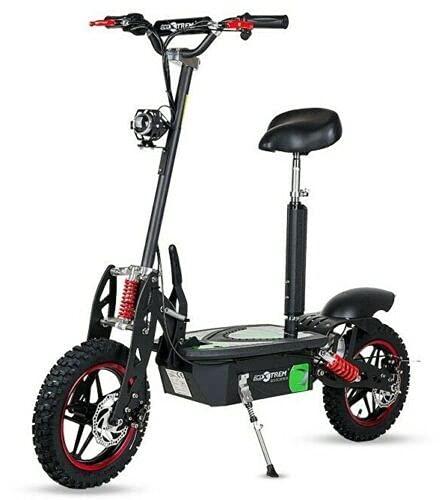 Virtuemart Patinete Scooter eléctrico Ecoxtrem Aspide Off-Road, Dos Ruedas, con sillín, Plegable,...
