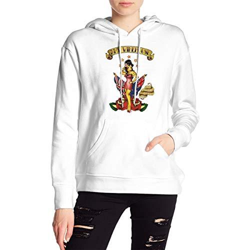 Amy Winehouse Damen Modische Langarm Hoodie Casual Sweatshirt Mit Hut Druck Kawaii Jacke Kleidung