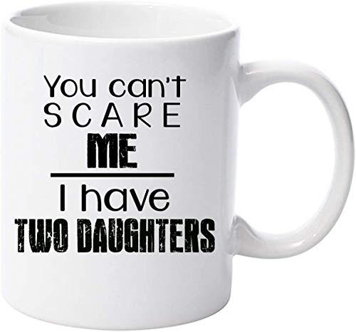 No me puedes asustar, tengo dos hijas, versión en negro, regalo para el día del padre, cumpleaños, Navidad