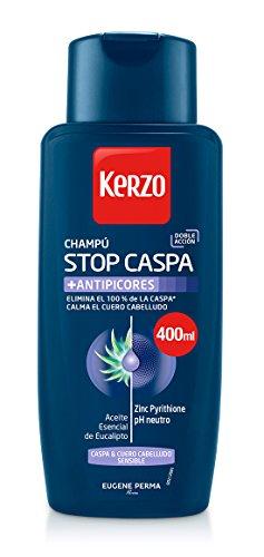 Kerzo Champú Stop Caspa Antipicores - 3 envases 400