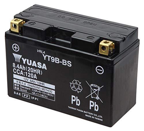 YUASA YT9B-BS Powersports AGM Motorrad Batterie, wartungsfrei (Preis inkl. EUR 7,50 Pfand)