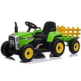 ATAA Tractor Ceres con Remolque - Tractor eléctrico para niños con Remolque Ceres. Batería 12v y Mando Control Remoto