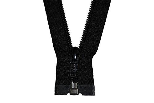 YKK Reißverschluss 1 Wege teilbar schwarz 65 cm Kunststoff Spirale