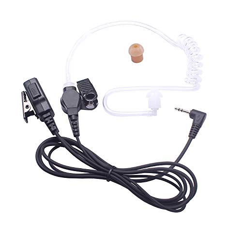 Arama A1518 Walkie Talkie Earpiece 2 Pin Acoustic Tube Earpiece Headset with PTT and Mic for Motorola Two-Way Radios