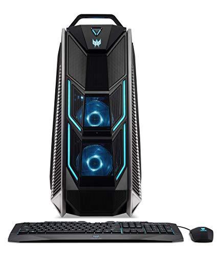 Predator Orion 9000 (P09-900) Desktop PC (Intel Core i9-7980XE, 64 GB RAM, 2x 512 GB PCIe SSD, 2x 256 GB SSD, 2x NVIDIA GeForce RTX 2080Ti, Win 10) schwarz/blau