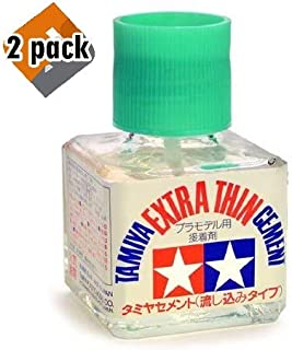 Tamiya 87038 Extra Thin Cement Glue Fine Tip 40ml - 2 Pack