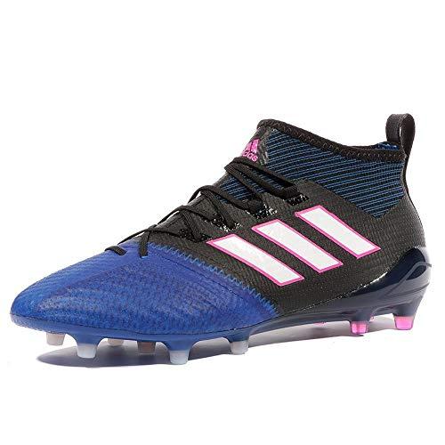 adidas Ace 17.1 Primeknit para los Zapatos de Entrenamiento de fútbol, Hombre, 000 Cblack Ftwwht Blue, 42 EU