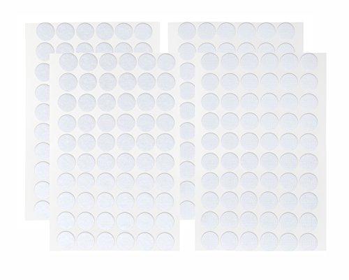 Klett WEISS 2x 60 Paar I Klettverschluss Klettpunkte klein Rund 15 mm 120 Stück Flausch u. Haken Selbstklebend Doppelseitig Klebend Klebepunkte kleine Klettpunkte 15 mm Durchmesser Ø 15mm auf Karte