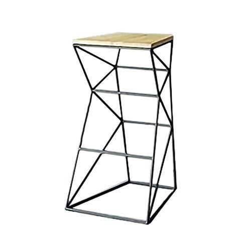 WPJDZ ijzeren barkruk barkruk met rugleuning huishouden industriële wind massief hout hoge stoel kruk kruk hoogte 45 cm, 65 cm, 75 cm