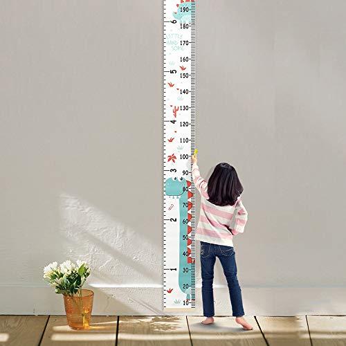 200 cm Tableau de Croissance Portable Tableau Murale de Hauteur Enfant Toise Mural Amovible pour Décoration Chambre d'Enfants