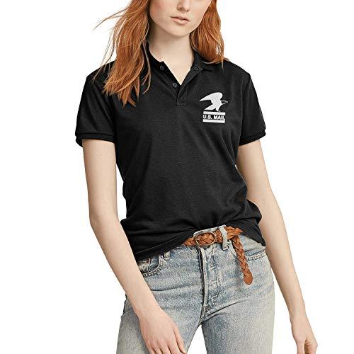 Womens U.s-Mail-White-US Postal Servive Man Vintage Black Polo Shirts Work Uniform