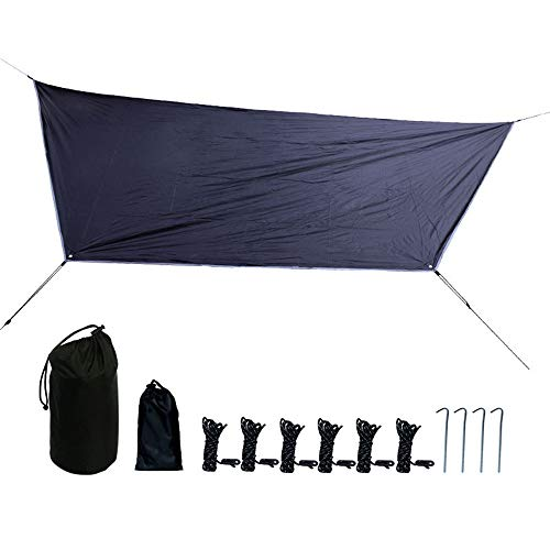 Double Hangmat Tent Rain Fly, Camping Tarp, Easy Set Up, Waterdichte Tent Polyester Cover voor kamperen, wandelen, backpacken