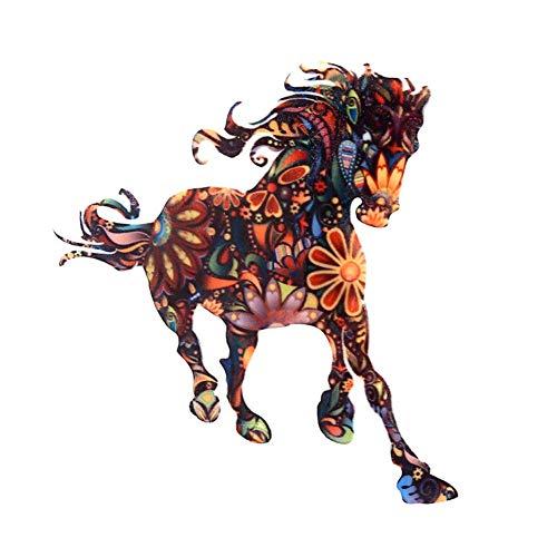 Ogquaton Cheval créatif animal broche unisexe coloré émail écharpe châle clip collier broche vêtements accessoires décoration mariage fête bijoux cadeau élégant et pratique