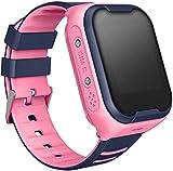 Smart watch para niños 4G LTE reloj inteligente con videollamada y GPS (Rosa)