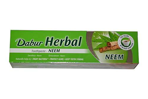 Dabur Herbal Neem 100ml Zahnpasta Ayurvedische Kräuter-Zahncreme mit Neem Zahnpflege
