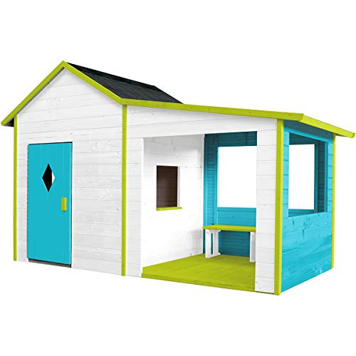 """SOULET Spielhaus\""""Igor\"""" mit Anbau Garten Holzhaus Outdoor Kinderspielhaus"""