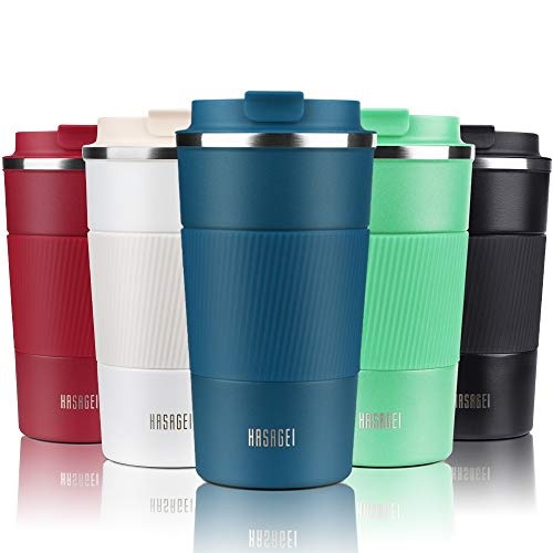 HASAGEI Travel Mug, Insulated Coffee Cup with Leakproof Lid - Vacuum...