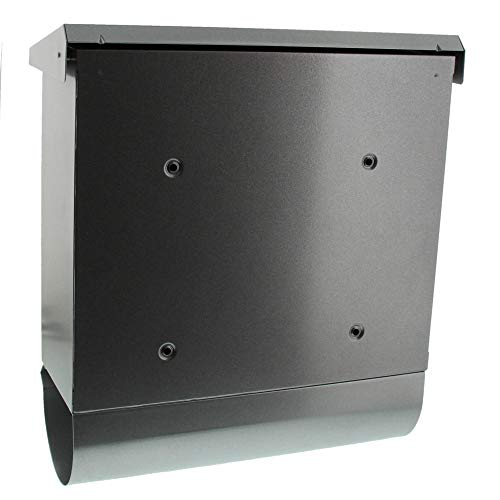 BURG-WÄCHTER, Briefkasten-Set mit integriertem Zeitungsfach, A4 Einwurf-Format, Verzinkter Stahl, Comfort-Set 91300 Si, Silber - 2