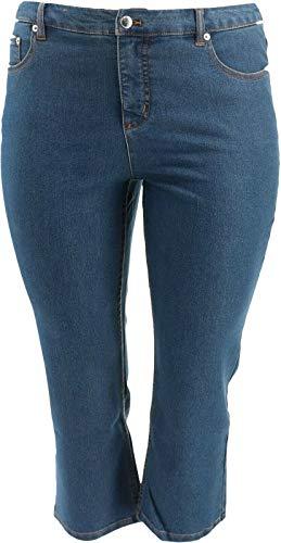 Liz Claiborne NY Jackie Straight Leg Ankle Jeans Light Indigo 18WP New A261295