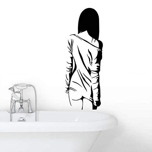 Adesivi Murali Appliques da Parete Art Wall Stickers H538 Corpo da donna sexy nudo per ragazza Camera da letto rimovibile Articoli per la casa Decor Bellezza Murale 22x59cm