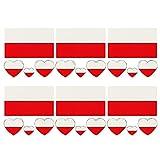 6pcs / set impermeable Bandera Nacional etiquetas engomadas del tatuaje temporal del cuerpo de la cara pegatinas Lasting Bandera tatuajes de 2018 aficionados Copa Mundial de Fútbol de Long (Polonia)