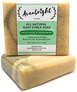 Eucalyptus Peppermint Soap Bar - All Natural Goat Milk Body Wash Peppermint Eucalyptus Essential Oil Soap Bars. Ideal For ...