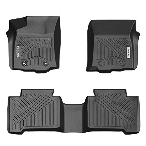 YITAMOTOR Floor Mats for Tacoma, Custom fit Floor Liners for 2016-2017 Toyota Tacoma Double Cab, 1st and 2nd Row Heavy Duty Rubber
