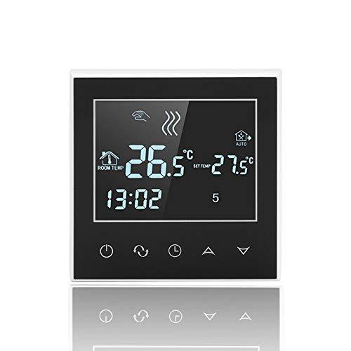 Denash Thermostate WiFi Raumthermostat Temperaturregler LCD-Touchscreen Wandthermostat, Smart Home intelligente Heizungssteuerung Fernbedienung durch Smartphone App,Blau Hintergrundbeleuchtung