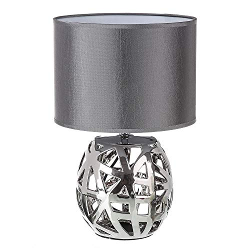 Lámpara de mesa árabe plateada de cerámica para salón Arabia - LOLAhome
