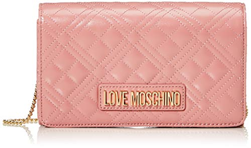 Love Moschino Borsa Quilted Nappa PU, Donna, Rosa, Normale