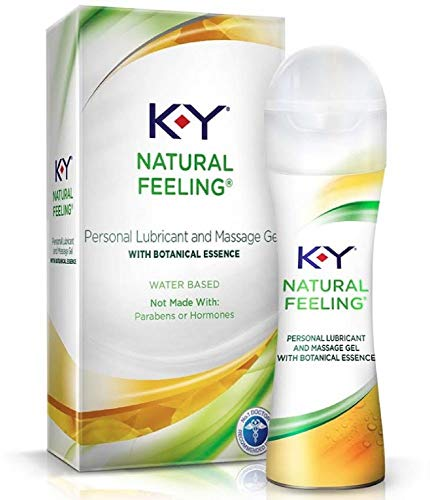 K-Y Natural Feeling with Botanical Essence Lubricant & Message Gel 1.69 oz (Pack of 3)