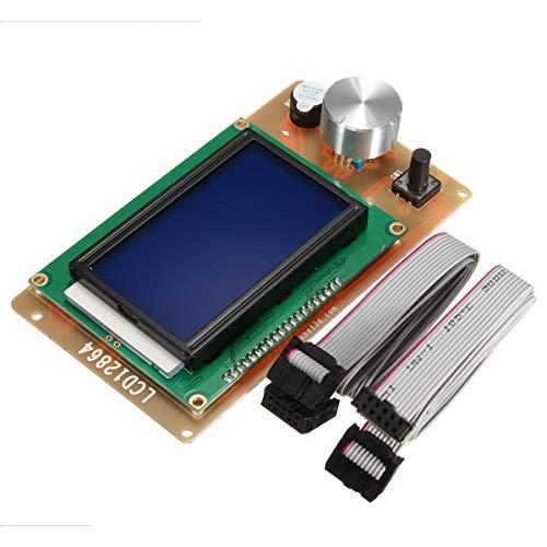 QuanRuiWuLiu Componentes de impresión en 3D Impresora 3D Adaptador del regulador Ajustable 12864 Pantalla LCD for Las rampas 1.4 Reprap, Durable y Resistente