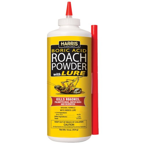 HARRIS Boric Acid Roach and Silverfish Killer Powder w/Lure (16oz)