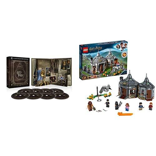 Harry Potter Magical Collection (8 Blu Ray) - Cofanetto, Edizione Digibook (32 pagine) + LEGO- Harry Potter La Capanna di Hagrid: Il Salvataggio di Fierobecco, Set con 6 Minifigure, 75947