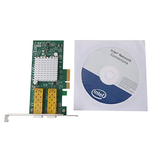 Ontracker Int-EL I350 - Adaptador de red Gigabit Ethernet con 2 puertos para servidores de fibra óptica