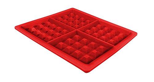 Jocca Molde de Silicona para Hacer gofres, Rojo, 18.5 cm