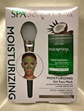SPASCRIPTIONS Moisturizing Gel Face Mask Soothe, Nourish, Soften with Shea Butter & Coconut Oil and Mask Applicator for all skin types 5 FL OZ