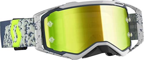 Scott Prospect MX Goggle Cross/MTB Brille grau/gelb Chrom Works