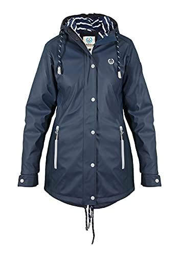 MADSea Rain Manteau de Pluie Femme PU Navy, Taille:42, Couleur:bleu marine