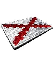 Bandera Cruz de Borgoña Parche 100% Bordado con Velcro - Escudo bordado - Parches Moteros Bordados - Parches Militares - Tercios Españoles - Imperio Español - 80 x 50 mm