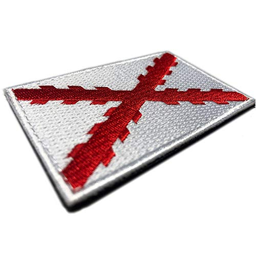 Bandera Cruz de Borgoña 100% Bordado - Escudo bordado - Parches Ropa - Parches Militares - Tercios Españoles - Imperio Español - 80 x 50 mm