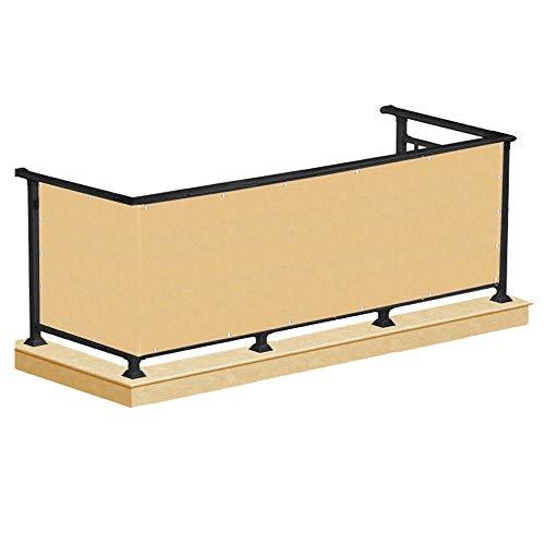 SPRINGOS Balkon Sichtschutz UV-Schutz | 100 x 700 cm | Beige | Balkonbespannung | Balkonverkleidung Zaun | Balkonabdeckung für Balkon Terrasse