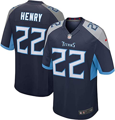 Derrick Henry Tennessee Titans #22 Navy Kids 4-7 Home Game Day Player Jersey (4)