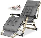 Fly YUTING Silla reclinada Plegable Cero Gravedad Sol tumbonas Cama reclinable sillón sillón de Gran tamaño XL, sillas de Cubierta Cojín de algodón para Silla Cargando hasta 300 kg