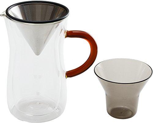 bonmacボンマックダブルウォールコーヒーカラフェセット700ml