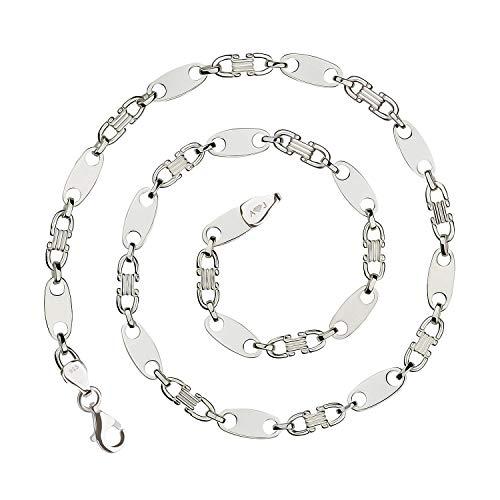 925 Silberkette: Plattenkette Silber 8,5mm 60cm - PLK-8.5-60