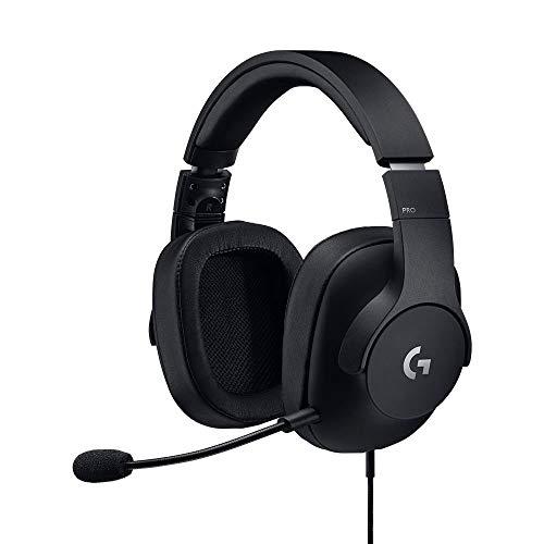 Logitech PRO Gaming-Headset, Dolby Surround Sound, 50 mm PRO-G Treiber, 3,5 mm Klinke, Bügelmikrofon, Audio-EQ-Profile, Ohrpolster mit Memory-Foam, Leichtgewicht, PC/Xbox One/PS4/Nintendo Switch/VR PC