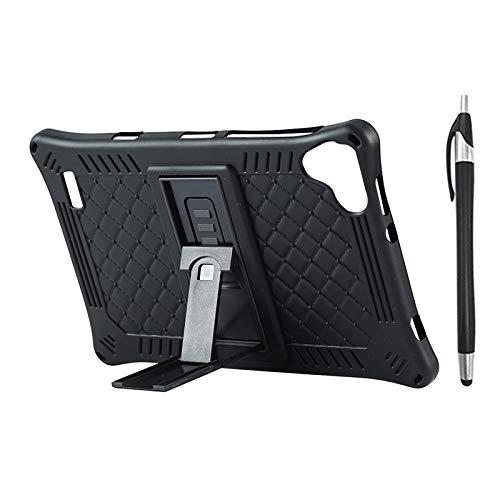Lopbinte Funda para Tableta para Teclast P80 P80X P80H Funda de Silicona AnticaíDa de Tableta de 8 Pulgadas Soporte de Tableta con LáPiz Capacitivo (Negro)