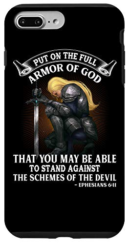 iPhone 7 Plus/8 Plus Put of the Full Armor of God Christian Woman Knight Gift Case